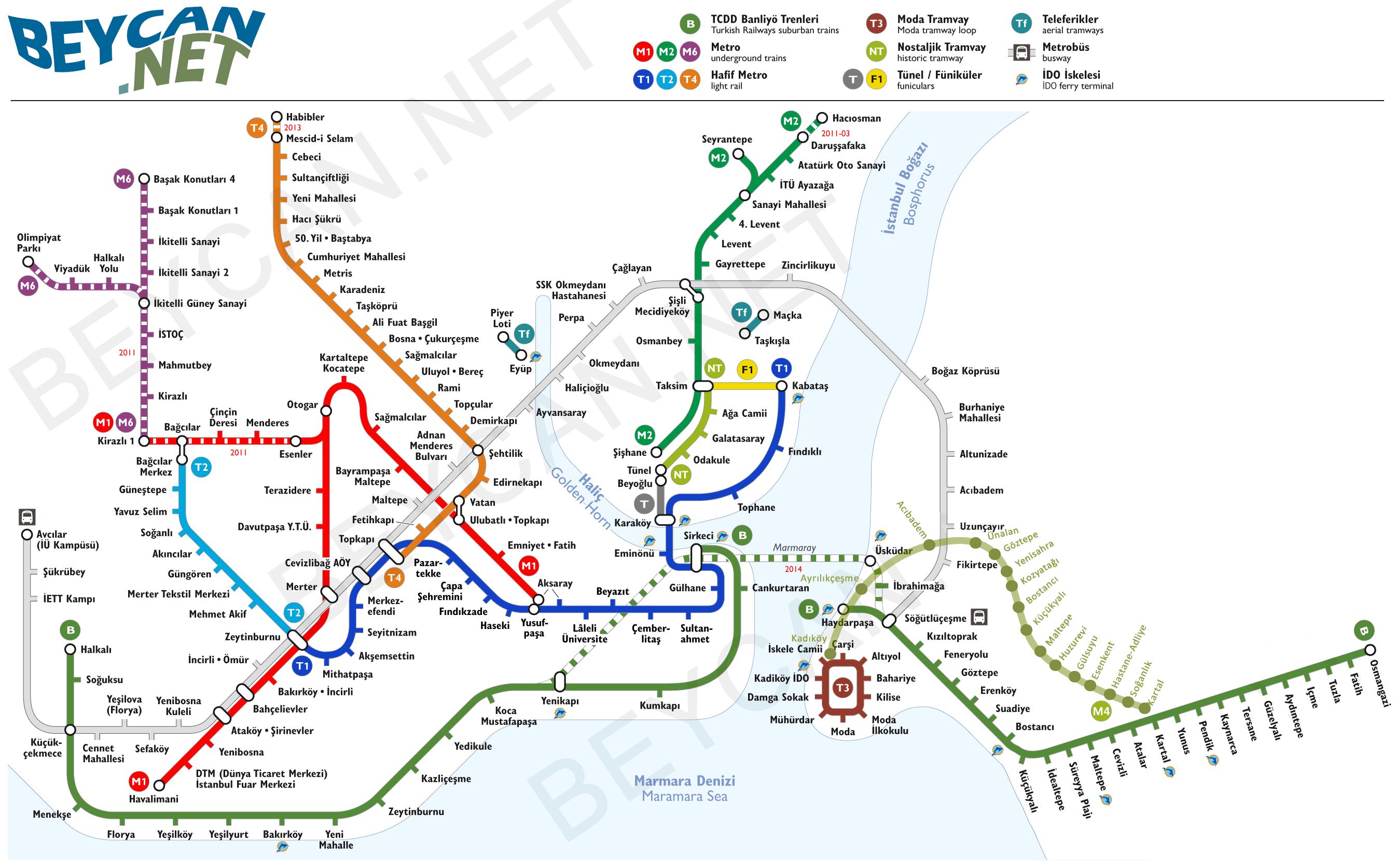 taksim metro durakları istanbul