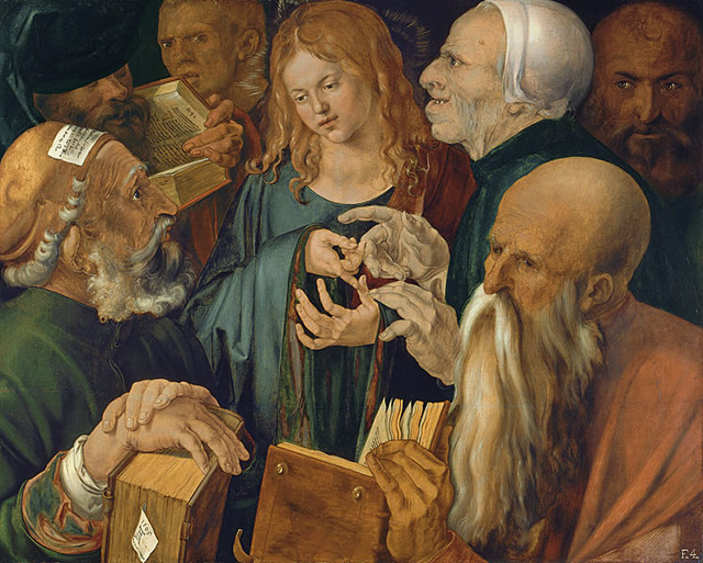 albrecht durer - christ among the doctors