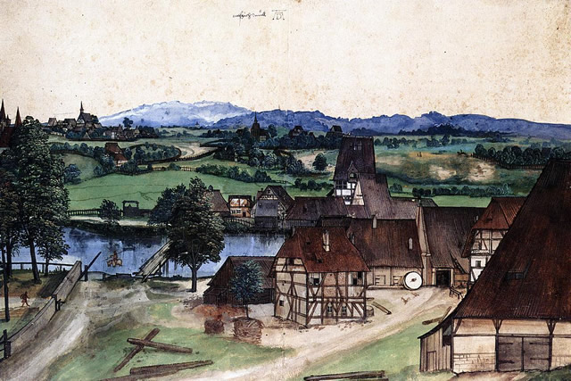albrecht durer - the wire drawing mill
