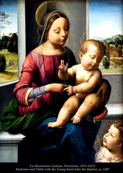 fra bartolomeo - madonna and child with the young saint john the bapdist