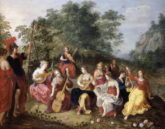 hendrick van apollo and the nine muses - alen