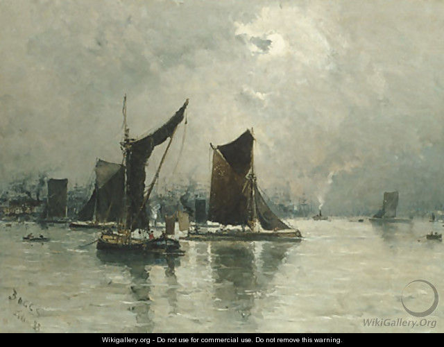 Frank Myers Boggs - On the thames